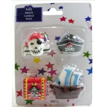 Kids Pirate Candles - Pack of 4
