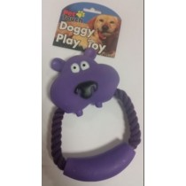 Rope Dog Toy With Animal Face - Shapes And Colours Vary