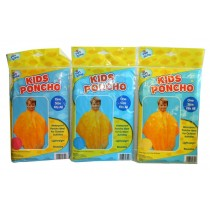 Fun Zone Waterproof & Reusable Kids Poncho - One Size - Assorted Colours