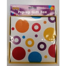 Jaunty Partyware Pop-Up Gift Box - 18 x 18cm