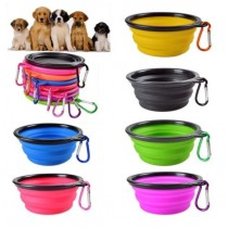 Keep it Handy Collapsible Portable Pet Bowl with Hook - 12.5 x 3.5cm - Assorted Colours