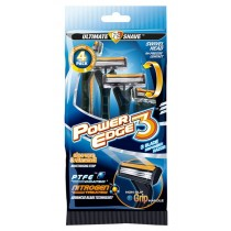 Power Edge Blade 3 Disposable Razor - Pack Of 4