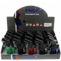 Prof Angled Jet Flame Lighter - Assorted Colours