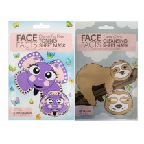 Face Facts Printed Sheet Mask - Lazy Sloth & Butterfly Bae - 20ml