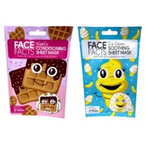Face Facts Printed Sheet Mask - Waffle & Ice Cream - 20ml
