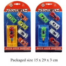 RACE SPEED SHOOTER CARS - PACK OF 6