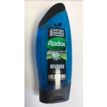 Radox Revived 2-in-1 Shower Gel & Shampoo for Men with Watermint & Sea Minerals - 250ml