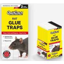 Qwik Catch Poison Free Rat Glue Traps - Pack of 2