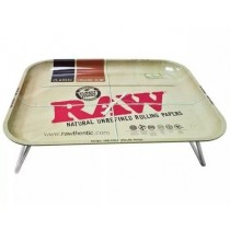 Raw XXL Lap Rolling Tray with Folding Legs - 38.5Cm X 50.5Cm