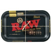 Small Raw Black Classic Authentic Rolling Tray - 17.5Cm X 27.5Cm