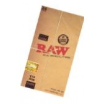 CLASSIC RAW NATURAL UNREFINED ROLLING PAPERS - 1 1/4 SIZE - PACK OF 24