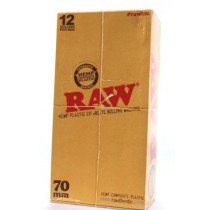 RAW HEMP PLASTIC CIGARETTE ROLLING MACHINE - 70mm - BOX OF 12