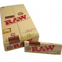 Raw Organic Hemp Natural Unrefined Hemp Rolling Papers - 1 1/4 Size - Pack Of 24