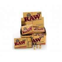 Raw Natural Unrefined Pre-Rolled Tips - 21 Tips Per Packet - Box Of 20