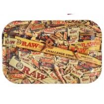 Large Raw Papers Classic Authentic Rolling Tray - 27.5Cm X 34Cm