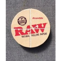 RAW NATURAL ROLLING PAPER TIN - ROUND
