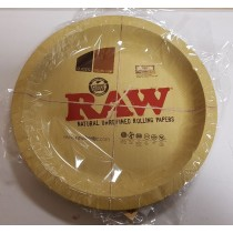 Large Raw Classic Authentic Rolling Tray - Round Shape - 30.5Cm X 30.5Cm