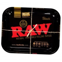 Large Raw Black Rolling Tray - 27.5Cm X 34Cm