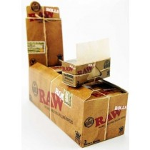 Classic Raw Natural Unrefined Rolling Paper Rolls - King Size - Natural Hemp Gum - Box Of 12 Rolls
