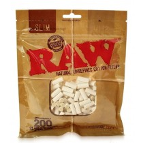 Raw Natural Unrefined Cotton Filters - Slim - Pack of 200