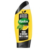 Radox Men Rise & Shine 2-in-1 Shower Gel & Shampoo - Lemon & Tea Tree - 250ml