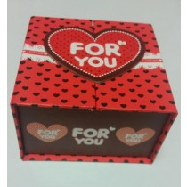 Square Gift Box - 2 Colours/Designs - Colours Vary