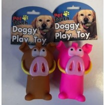 Pet Touch - Squeaky Doggy Play Toy Wild Boar - Colours Vary