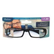 Calani Eyewear Reading Glasses - Black - +1.00 - Price Marked £4.99