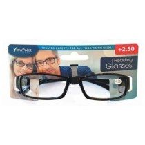 Calani Eyewear Reading Glasses - Black - +2.50 - Price Marked £4.99