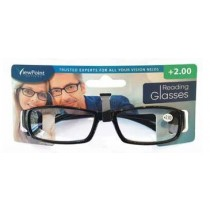 Calani Eyewear Reading Glasses - Black - +2.00 - Price Marked £4.99