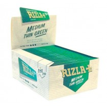 Rizla Cigarette Medium Thin Rolling Paper - Green - King Size - 50 Booklets