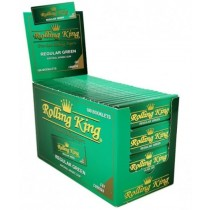 Rolling King Premium Rolling Papers - Cut Corners - Regular Green - Pack of 100