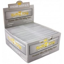 Rolling King Premium Ultra Thin Rolling Papers - King Size Silver Slim - Pack of 50