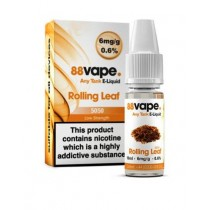 88 Vape Any Tank E Liquid - Rolling Leaf - 50/50 Pg/Vg - 6Mg - 10Ml
