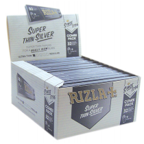 Rizla 32 Combi Pack Super Thin Cigarette Paper - Silver - Box Of 24 Booklets