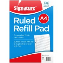 A4 Ruled Refill Pad -100 Sheets