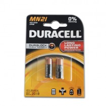 DURACELL MN21 A23 K23A LRV08 ALKALINE BATTERY 12V - PACK OF 2