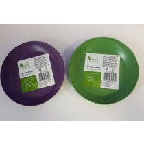 Tesco Greener Living Compostable Plant Saucer - 13m - Green And Purple - Colours May Vary