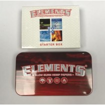 Elements Slow Burn Hemp Starter Box - Assortment of Papers & Tips