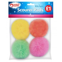 Scourer Pads - Pack of 4 - Clipstrip PM £1