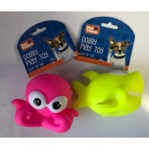 Pet Touch - Squeaky Doggy Play Toy Sea Animal - Designs Vary
