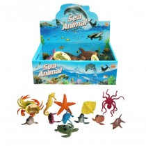 Toy Sea Animals Of The World Sea Creature Series - Assorted Sizes, Shapes And Colours