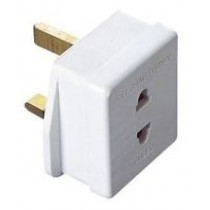 Shaver 2 Pin To 3 Pin Adaptor 1A Fused
