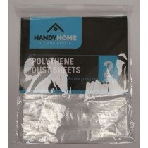 Handy Home Polythene Dust Sheets - 2.7 x 3.6m - Pack of 2