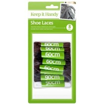 Shoe Laces - Assorted Colours Thickness And Lengths - Pack Of 8