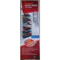 Home Garden Amazing Shoe Rack - 10 Tier - 50 x 16 x 143cm - Black