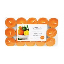 Opella Fragranced/Scented Tea Lights / Candles - Sicillian Citrus - Pack Of 15