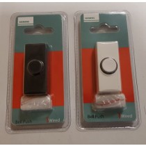 SIEMENS WIRED BELL PUSH - BLACK AND WHITE