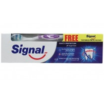 Signal Cavity Protection Toothpaste with Active Micro Calcium & Pro-Fluoride Complex + Toothbrush - 100ml