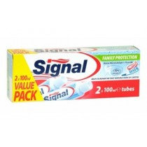 Signal Family Protection Toothpaste with Active Micro Calcium & Fluoride - Value Pack - Pack of 2 x 100ml